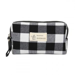 PLAID COSMETIC BAG!